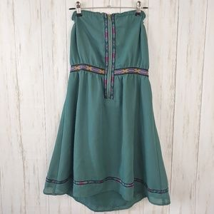ECOTE URBAN OUTFITTERS Zip Front Mini Dress Tunic